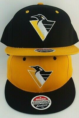 Pittsburgh Penguins Zephyr/Snap-back/Hat/Cap/NHL/Black & Yellow/Throwback/Retro