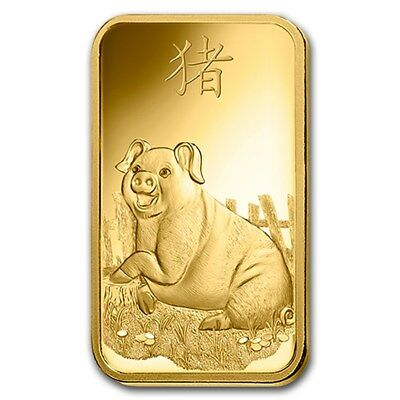 2019 ~ 5~GRAM ~ .9999 GOLD ~ YEAR of the  PIG ~ PAMP SUISSE ~ SEALED BAR ~ $9.99