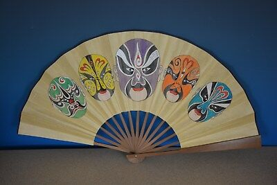 Unique Antique Chinese Paper Fan Signed By Artist Rare U8167