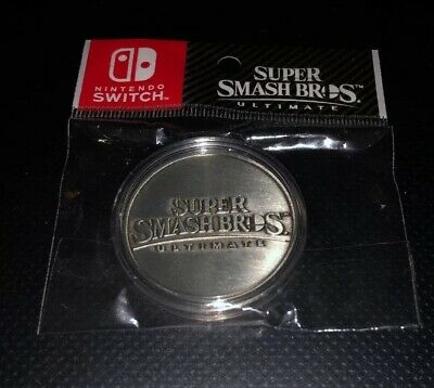 Super Smash Bros Ultimate Collectible Antique Silver Coin Brand New And Seal