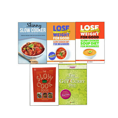 Slow Cook Book- Over 150 Oven How To Lose Weight For Good 5 Books Set Brand NEW