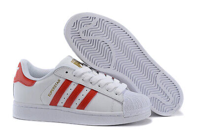 quite nice a4854 9f62a Scarpe Uomo Adidas Superstar Foundation B27139 Bianco Rosso Sneakers Tg.46  Nuovo