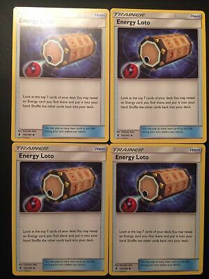 4 Energy Loto Trainer PLAYSET 122//145 Guardians Rising Pokemon Card TCG