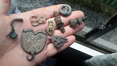 Handful Of Dug Up Artefacts.Roman To 1700s