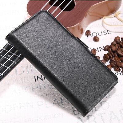 Black Luxury Genuine Real Leather Flip Phone Case Wallet Shockproof Cover Stand