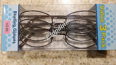 5f208ffe9455 Reading Glasses Foster Grant Magnivision 2.50+ Reading Glasses Value 3 Pack