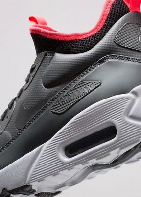 Details about NIKE AIR MAX 90 ULTRA MID WINTER ANTHRACITE BLACK SOLAR RED 8 13