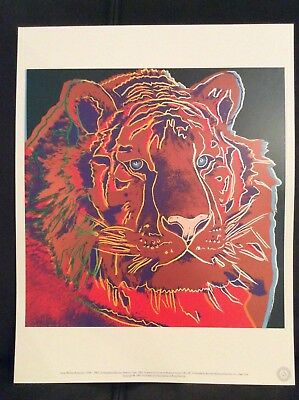 Andy Warhol FoundationLtd.Edition Offset Lithographie ca.31x40 Sibirians Tiger