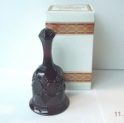 Avon 1876 Cape Cod Collection Ruby Red Glass Hostess Bell 1979