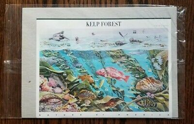 US 4423 2009 44c Kelp Forest Sheet of 10 Nature of America 11th in series Stamps