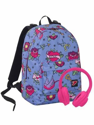 Zaino Seven Reversibile The Double Swallow Con Cuffie Linea Scuola 2018/2019