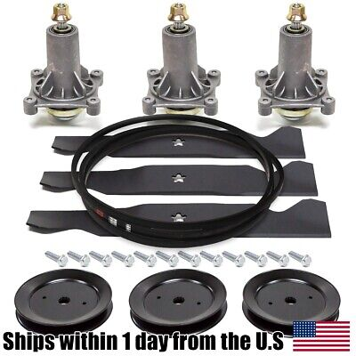 Deck Gator Blade Spindle Belt Kit Combo Set Husqvarna RZ5424 RZ5426 RZ5422 RZ54i