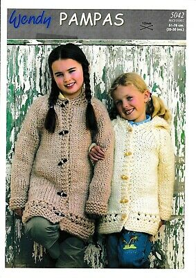 """Wendy Knitting Pattern 5868 Short Cabled Jacket With Border 30-40/"""" Aran Ladies"""