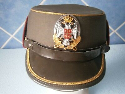 Serbia Army Officer Woman Hat Cap Badge Military Rare Model