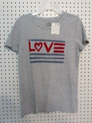 bd279d543 EV1 from Ellen DeGeneres Women's Love Flag Crew Neck Graphic Tee, Size  Medium