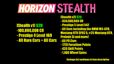 Forza Horizon 4 Modded Accounts - *NEW* Stealth Packages