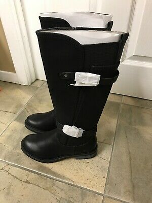 27e129106ff Women s Eddie Marc Extreme Knee High Double Buckle Boots Black Size 6 New!