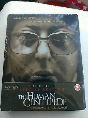 The Human Centipede First + Full Sequence [Blu-ray 2012, 4-disc] STEELBOOK