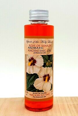 Rose Of Sharon Holy Anointing Oil From Israel Blessed in Jerusalem 110 Ml Bottle
