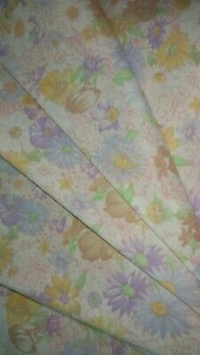 W💛W FABRIC SALE $4 FULL YARD Lovely Spring Flowers Cotton Sew Clothes Quilts 💜