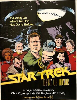 1992~Dc Comics Star Trek~Debt Of Honor~Kirk Starfleet Anniversary Tribute Poster