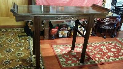 Chinese Carved Rosewood Entrance Table