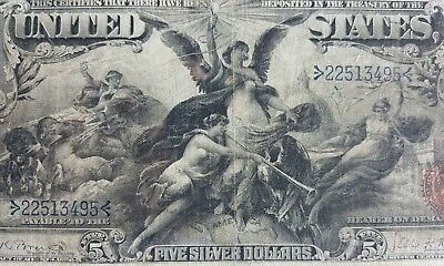 US 1896 $5 Education Silver Certificate FR 269 PCGS 15