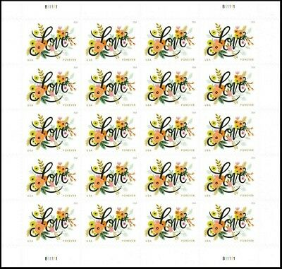 2018 US Stamp - Love Flourishes - 20 Forever Stamps - Scott #5255