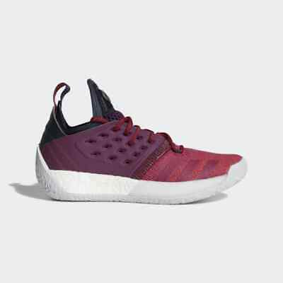 new concept 49a7e 7ce7c adidas James Harden Vol 2 IGNITE RED RUBY BOLD MAROON AH2124 sz 8 Men  Basketball