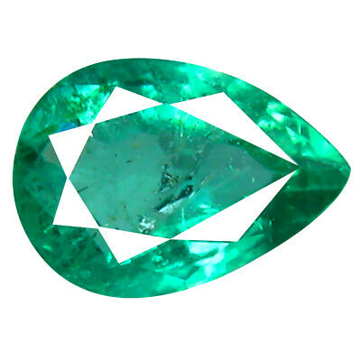 0.77 ct Spectacular Pear Cut (7 x 5 mm) Colombian Emerald Natural Gemstone