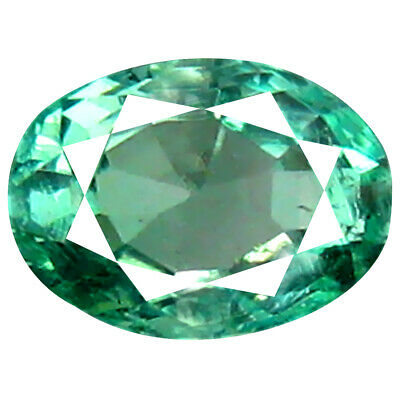 0.51 ct Superior Oval Cut (5 x 4 mm) Colombian Emerald Natural Gemstone