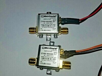 Pair of Mini Circuits Amplifier ZX60-8008E-1+ 20-8000 MHz 8 GHz 12 VDC