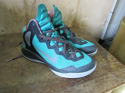 910868963a774 Mens NIKE Zoom Hyperenforcer XD Wolf Grey-Green 511370-002 Size 8.5  Low