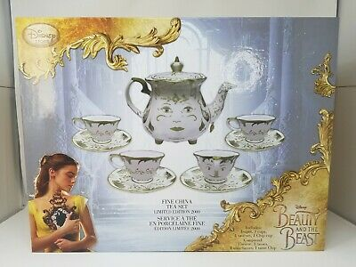 Disney Beauty and the Beast Live Action Fine Tea Set Limited Edition New
