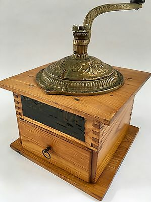 Pat 1888/9 PRISTINE Antique/Vintage USA ARCADE IMPERIAL Wood Coffee Mill/Grinder