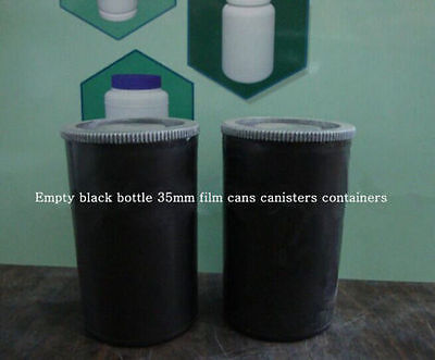 102 PCS Empty BLACK Bottle 35mm Film Cans Canisters Containers