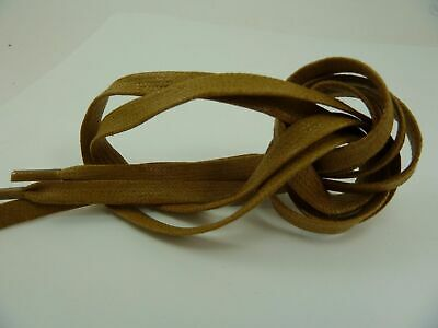 """A New Pair Flat Tan Cotton Waxed Dress Casual Shoelaces 3mm Laces 30/"""""""