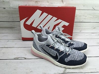 e4f5f3a2a3418 Nike CK Racer Running Shoes Womens 9 Armory Blue Navy Platinum 916792 400  NEW