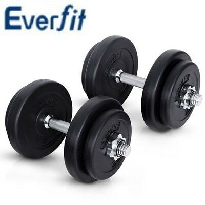 Everfit Dumbbell Set Weight Dumbbells Plates Home Gym Fitness Exercise 20KG