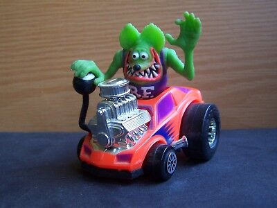RAT FINK and the Rad Rods in his ROCKIN' ROADSTER 1990 Kenner Ed Roth Loose