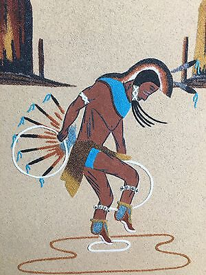 Hoop Dance Navajo Native American Indian Sand Painting Dave Benally Sheep Spring
