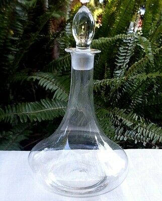 CLEARANCE!! Rare Vintage Clear GENIE BOTTLE DECANTER & STOPPER Collectable Bar