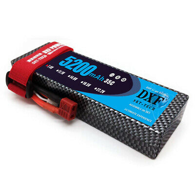 DXF 7.4V 5200mAh 2S 35C Deans/T  Hard Case RC Lipo Battery for Car Truck Traxxas