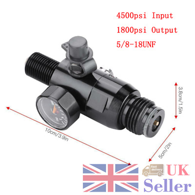 5/8''-18UNF Thread Paintball Valve Regulator 4500psi HPA Output 1800psi Air Tank