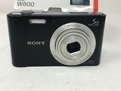 Sony DSC-W800 Cyber-shot 20.1MP Digital Camera - Black *For Parts/Not Working*