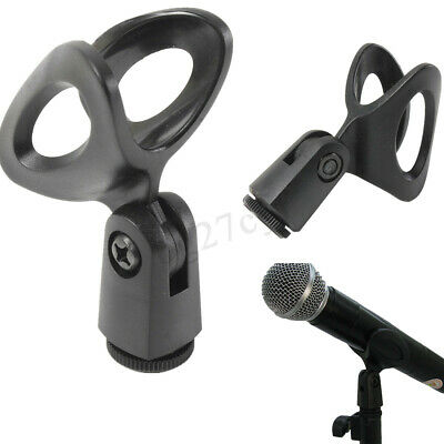 Flexible Rubberized Plastic Rubber Microphone Mic Clamp Clip Holder Mount Stand