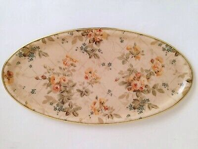 Lovely Vintage Floral Arnold Designs Ltd Chalford Glos Glass Fibre Oval Tray