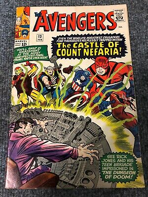 Avengers 13 First Appearance Of Count Nefaria Key Book Great Shape 99 Cent Start