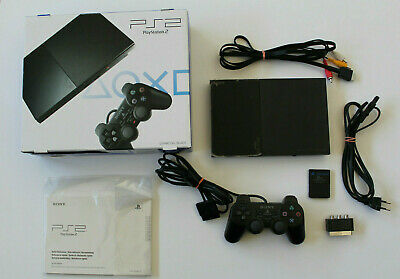 Sony Playstation 2 PS 2 Konsole Slim Pink in OVP + 2 Original Controller