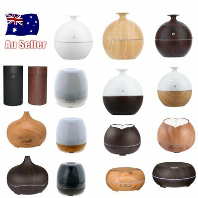300ML Air Humidifier Aromatherapy Diffuser LED Essential Oil Aroma Ultrasonic RE